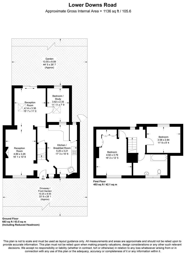 Floorplan for Lower Downs Road, Wimbledon